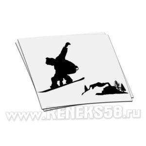 Наклейка Сноубордист в полете вар.1