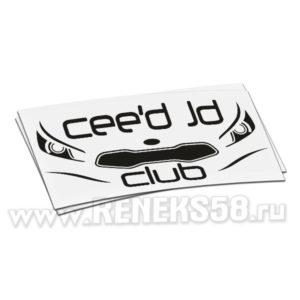 Наклейка Ceed JD club