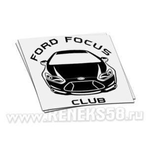 Наклейка Ford Focus Club