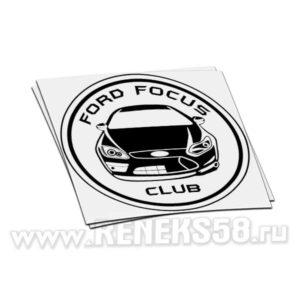 Наклейка Ford Focus Club круг