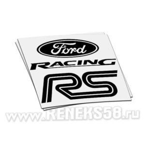 Наклейка Ford Racing RS