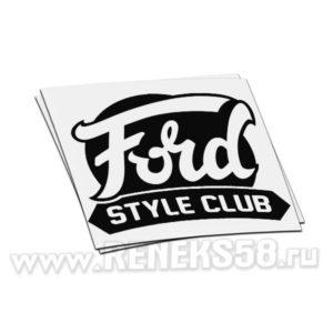 Наклейка Ford Style Club