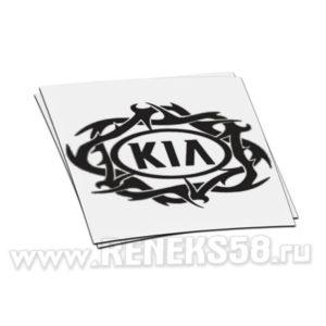 Наклейка Kia Logo с узором