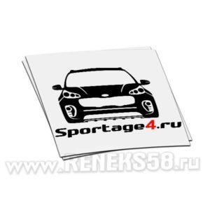 Наклейка Kia Sportage