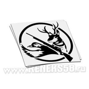 Наклейка ружье утка лось