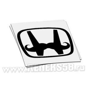 Наклейка honda логотип с усами
