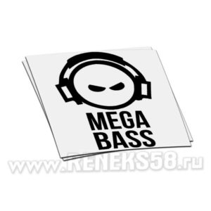 Наклейка на авто без фона Mega Bass