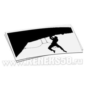 Наклейка Альпинист карабкается по отвесной скале