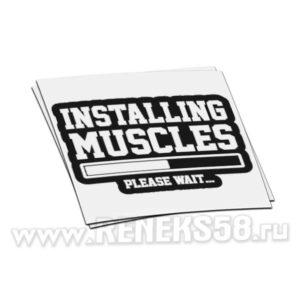 Наклейка Installing Muscles