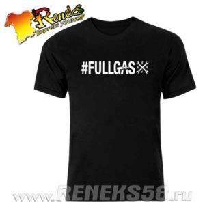 Черная футболка Full Gas gfg