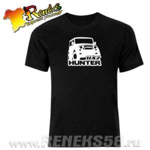Черная футболка UAZ Hunter