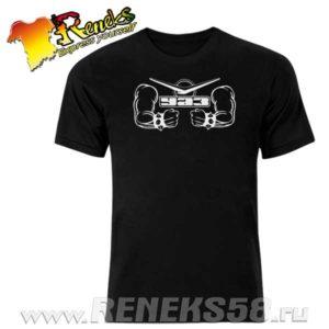Черная футболка Уаз сила