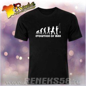 Черная футболка эволюция человека