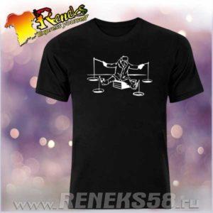 Черная футболка зимняя рыбалка