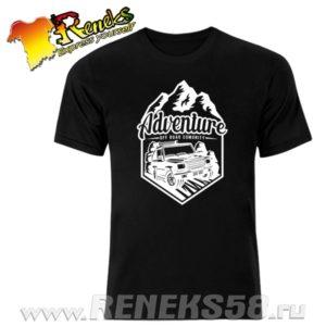 Черная футболка 4x4 adventure