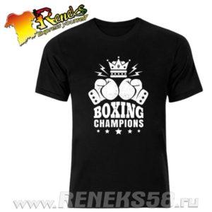 Черная футболка Boxing Champions
