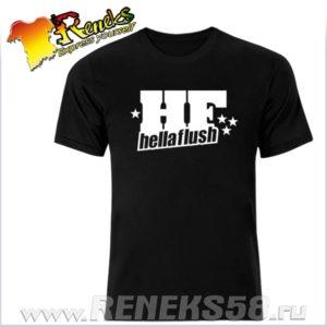 Черная футболка Hellaflush