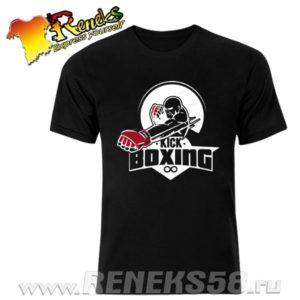 Черная футболка Kick Boxing
