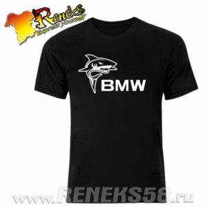 Черная футболка акула бмв