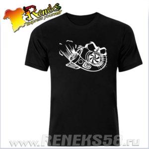Черная футболка грозная турбина