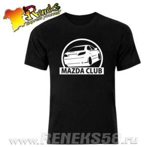 Черная футболка mazda club