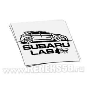 Наклейка Subaru lab