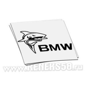 Наклейка акула bmw