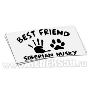 Наклейка Best friend Siberian Husky