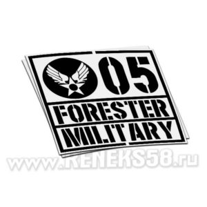 Наклейка Forester military