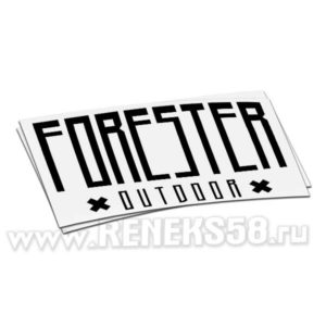 Наклейка Forester outdoor