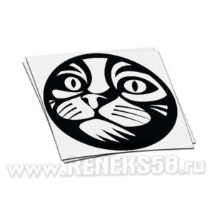Наклейка Мордочка кота в круге