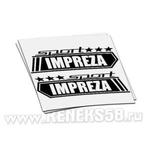 Наклейка Sport Impreza полоски