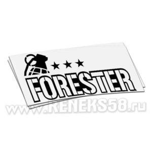 Наклейка Subaru forester с гранатой