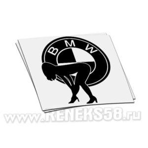Наклейка BMW Logo с девушкой