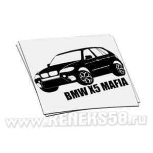 Наклейка BMW X5 Mafia