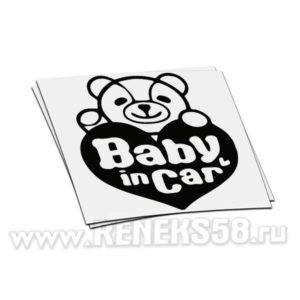Наклейка Baby in car мишка