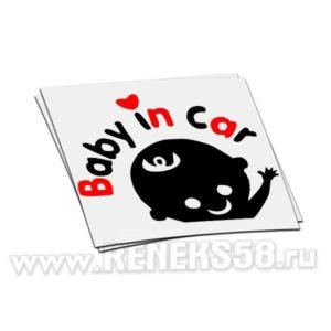 Наклейка Baby in car вар1