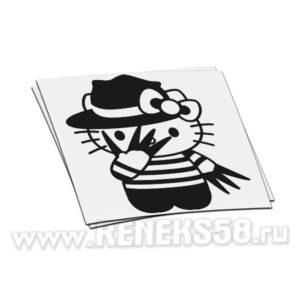 Наклейка Hello kitty Фредди Крюгер