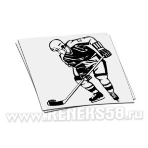 Наклейка hockey player