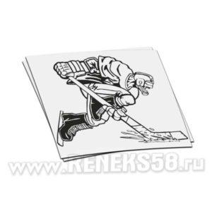Наклейка Хоккеист мчится