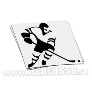 Наклейка Хоккеист вар3