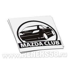Наклейка Mazda club