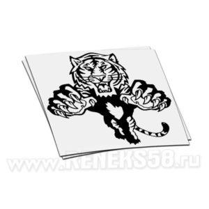 Наклейка Тигр атакует