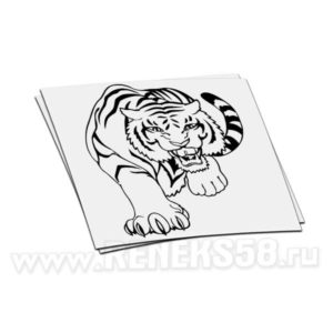 Наклейка Тигр идет
