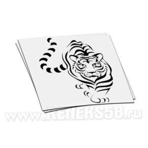 Наклейка Тигр идет вар1