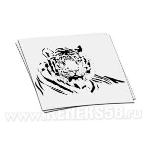 Наклейка Тигр лежит