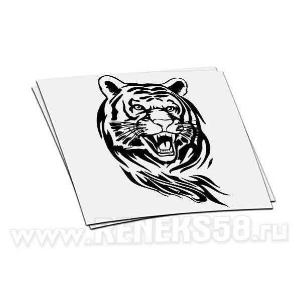 Наклейка Тигр оскал
