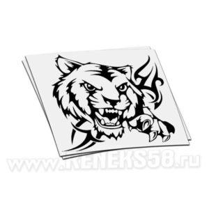 Наклейка Тигр оскал вар1