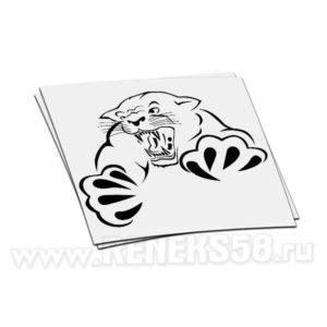 Наклейка Тигр в прыжке вар1