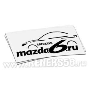 Наклейка автоклуб Mazda6